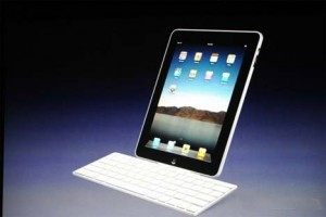 The Apple iPad (leaning)