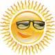 Sun with shades