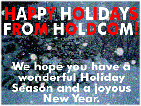 Happy Holidays from Holdcom