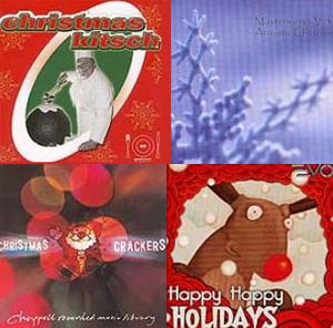 holiday music collage